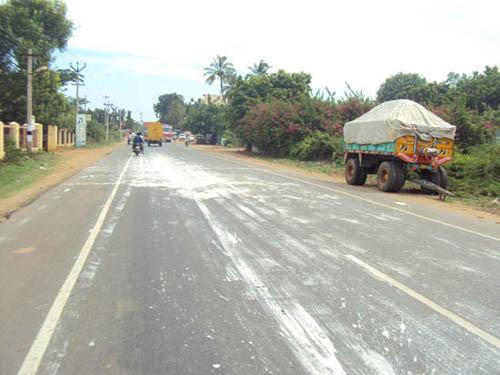ECR Road spill