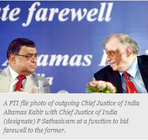 outgoing Chief Justice of India
