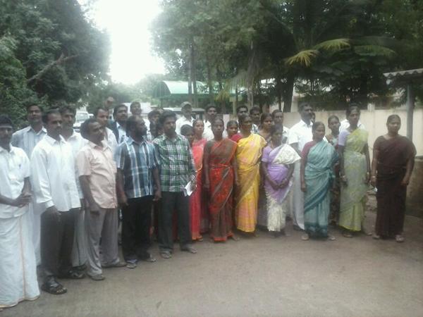 Residents of Eachangadu village