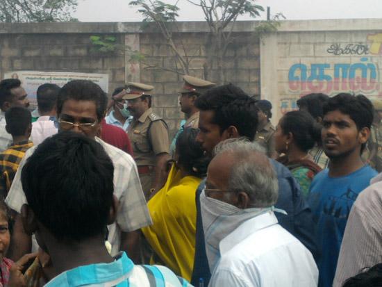 illegal dump site protest