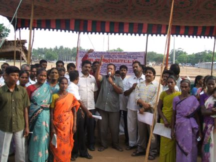 Protest against new polluting units