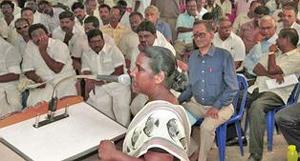 Residents of North Chennai at meeting