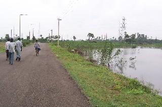 road separating site